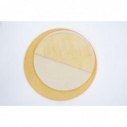 Šamotna plošča okrogla polovica 35 x 1,0 cm 2961